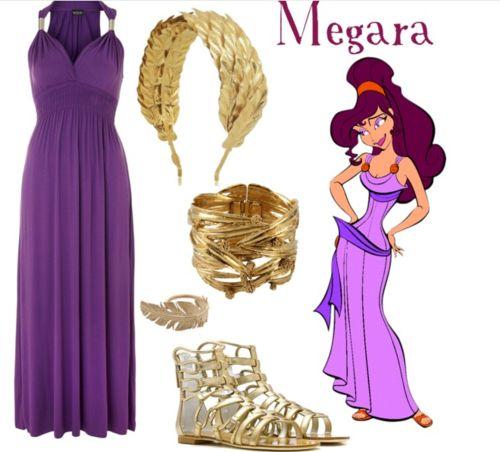 Megara (Hercules) costume idea - Tons more Disney things.