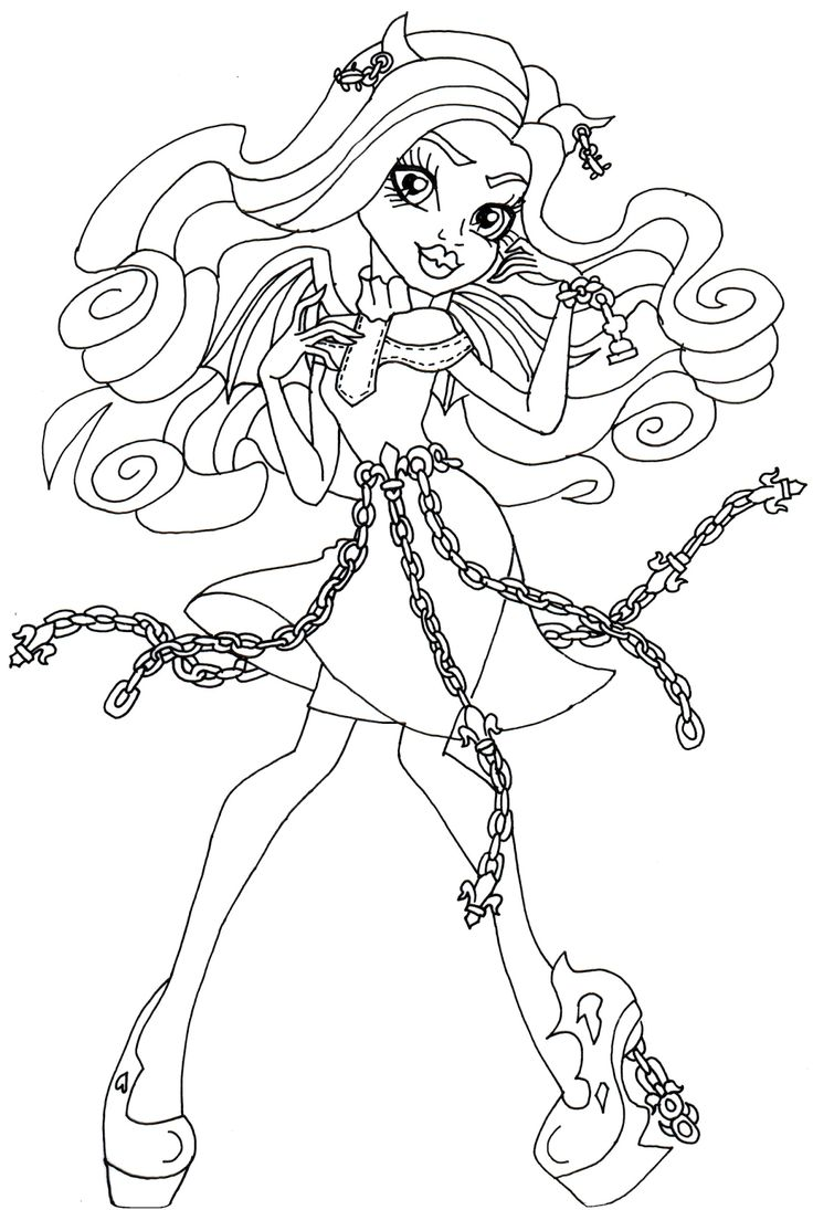 Haunted Rochelle Goyle Monster High Coloring Page 1075—1600 2 Color Monster High Pinterest