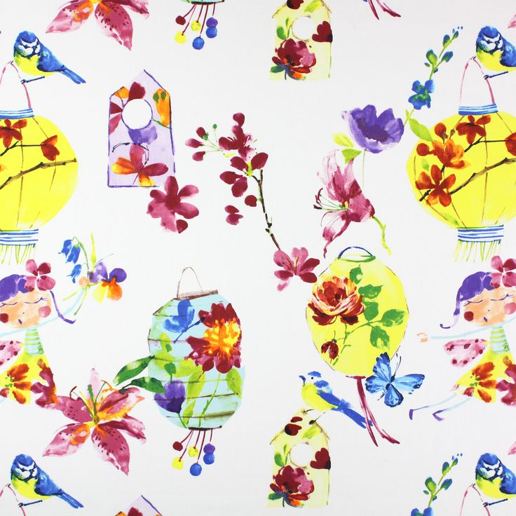 Lily Lantern - Tropical fabric, from the Be Happy collection by Prestigious Textiles
