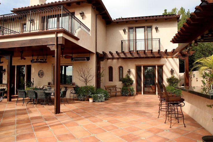 Mediterranean Backyard Design Terrific Inexpensive Patio