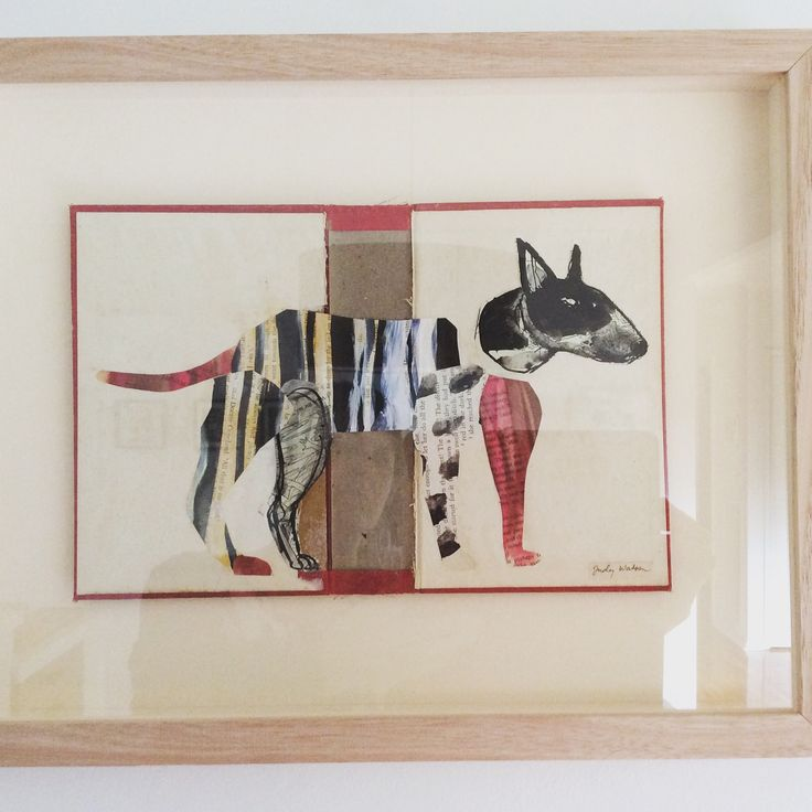 Back from the framer, Bodger. Altered book / collage judywatson.net