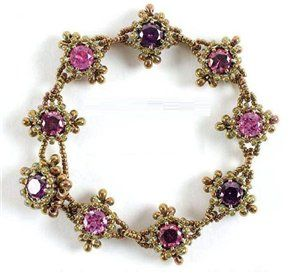 Bracelet with rhinestones   biser.info - all about beads and beaded works - 1