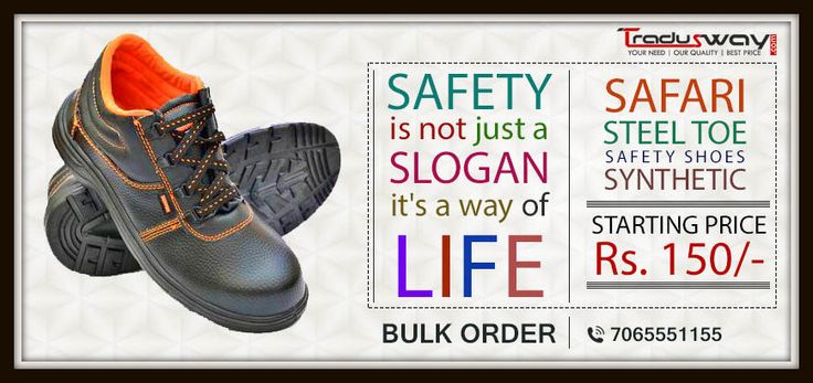 Carelessness may cost you your life, protect your feet by ‪#‎Safety‬ shoes. Starting @150/- Only. more visit:- www.tradusway.com