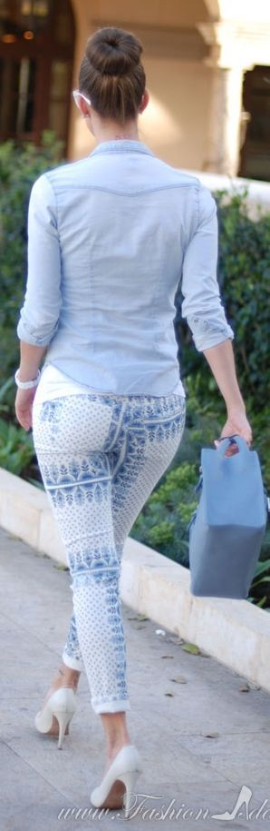 Joe's Jeans White And Blue Skinny Ankle Jeans