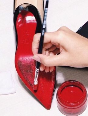 ee2241f1a450 Paint To Fix Diy Christian Louboutin Heels For Red Bottoms Designer Shoes
