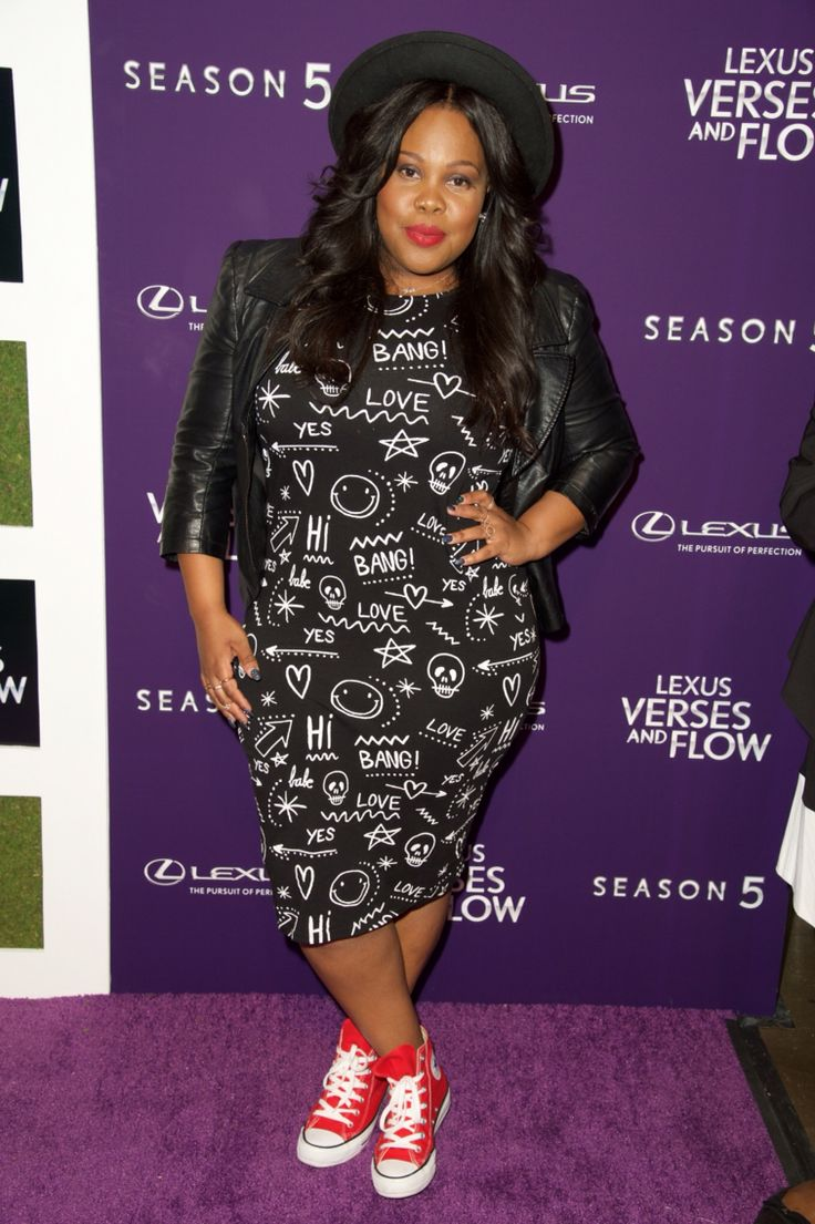 Amber Riley attends 'Verses and Flow' Season 5 at Siren Studios