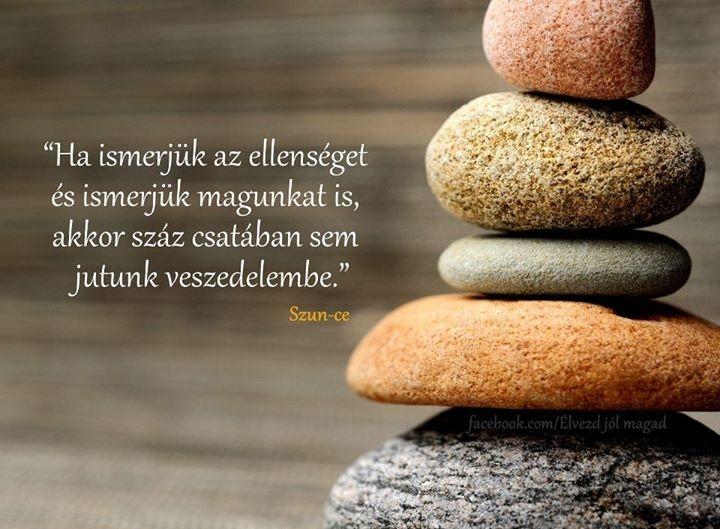 Szun-Ce idézete az ellenség és önmagunk ismeretéről. A kép forrása: Élvezd jól magad