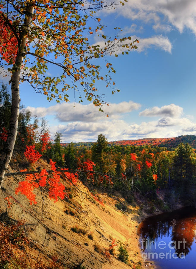 ..Banks of Big East River. Autumn in Arrowhead Provincial Park Ontario Canada, by Oleksly Maksymenko..