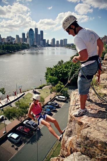 Rock climbing, Kangaroo Point, Brisbane