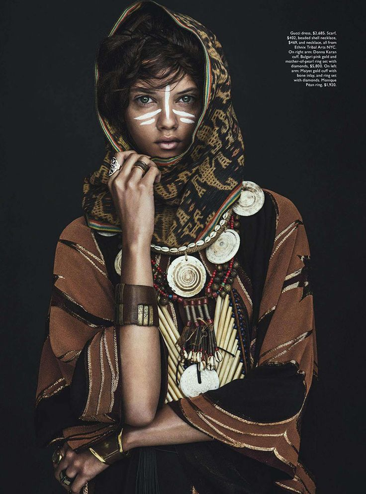 Marina Nery In 'Tomorrow's Tribe', Lensed By Sebastian Kim for Vogue Australia April 2014 - 15 GlamTribale Nature Inspired Jewelry - Women's Fashion & Lifestyle News From Anne of Carversville