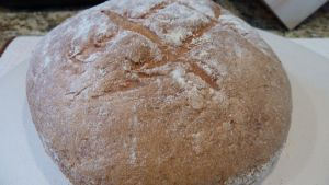 This European Peasant bread was easier to make than I imagined and you can save dough in the fridge to use days later .