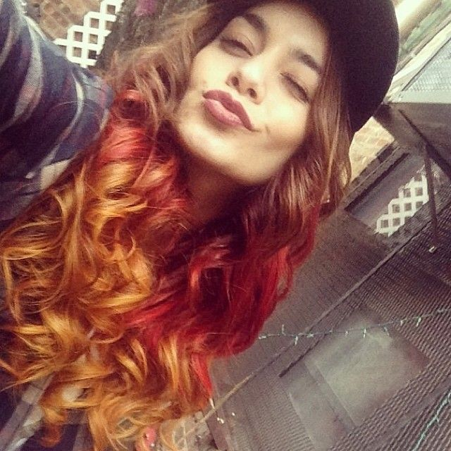 When Vanessa Hudgens debuted this autumn-themed ombre hair
