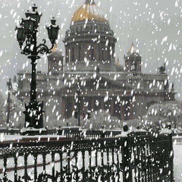 гифка питер в снегу фотографу