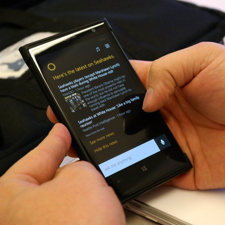Pin for Later: Cortana, Windows Phone's Siri, Is Unexpectedly Amazing Cortana Dashboard This is what the news section of the Cortana app looks like.  Photo: Nicole Nguyen