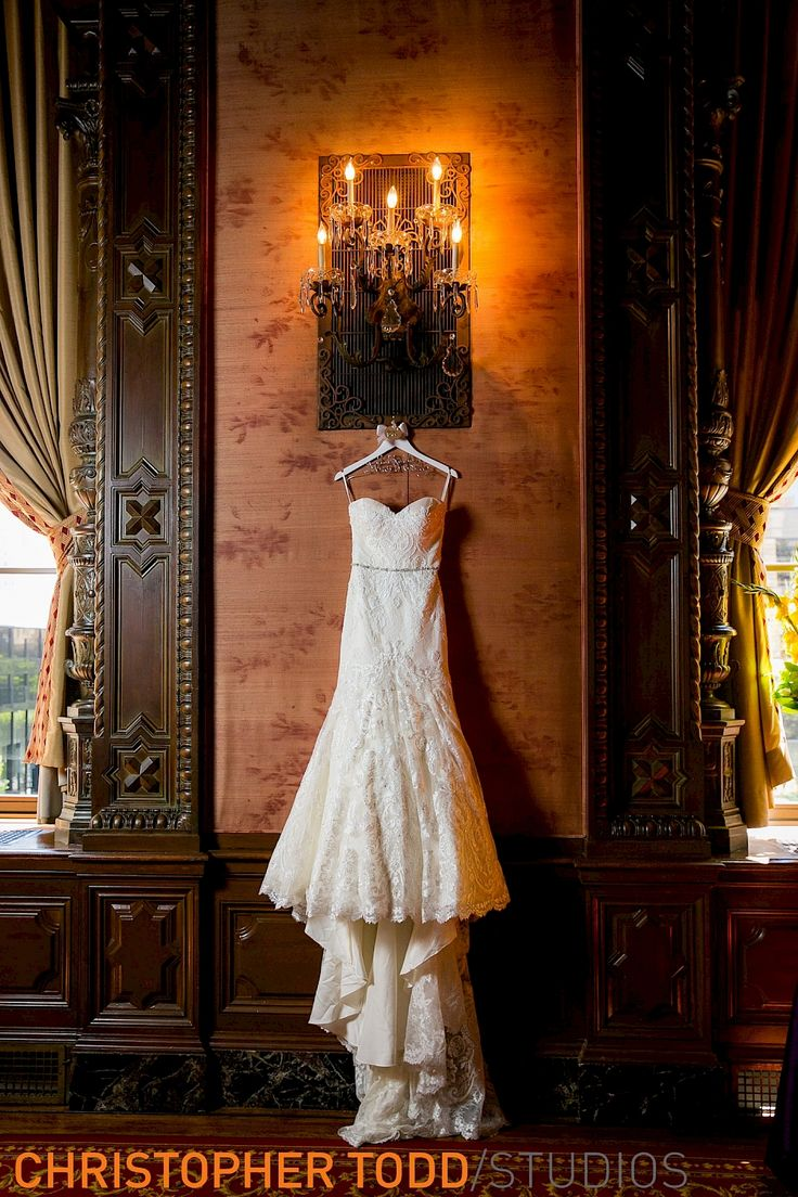 Gowns In Downtown Los Angeles - Bridal gown cathedral train at jonathan club downtown la