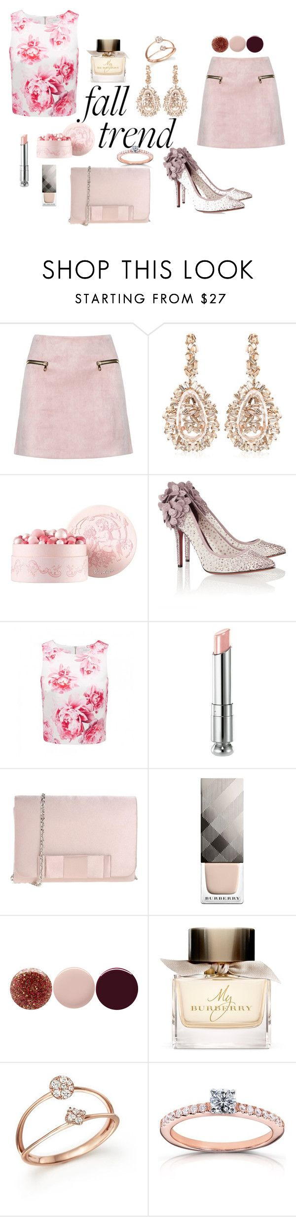 """Untitled #118"" by popescu-io on Polyvore featuring Suzanne Kalan, Guerlain, Bruno Magli, Forever New, Christian Dior, Marina Galanti, Burberry, Nails Inc., Bloomingdale's and Kobelli"