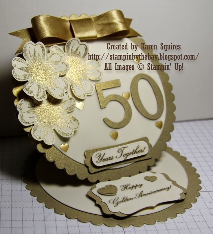 Stampin By The Bay Happy 50th Wedding Anniversary Mom