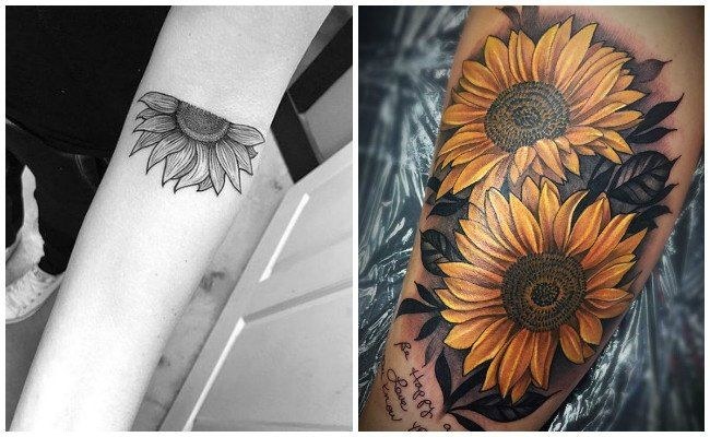 Fotos De Tatuajes De Girasoles Flores Tatuajes Girasoles