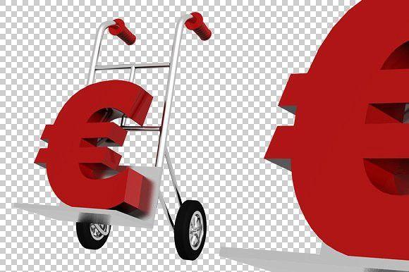 Euro sign - 3D Render PNG #render