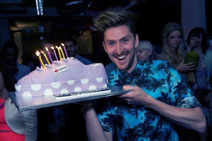 House of Holland meets Superga | Henry and the Superga Cake at our launch party for the collection