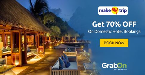 Grab This Exclusive Coupon TODAY! Book Any Domestic #Hotels At #Makemytrip & Get 70% OFF. Hurry!! http://www.grabon.in/makemytrip-coupons/