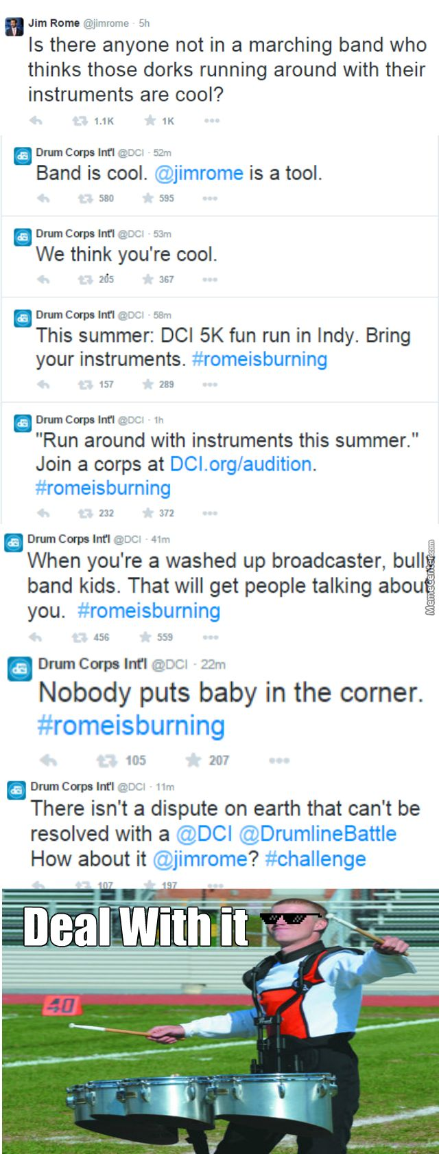 Drum Corp International Giving Jim Rome The Shade He Deserves by ...""