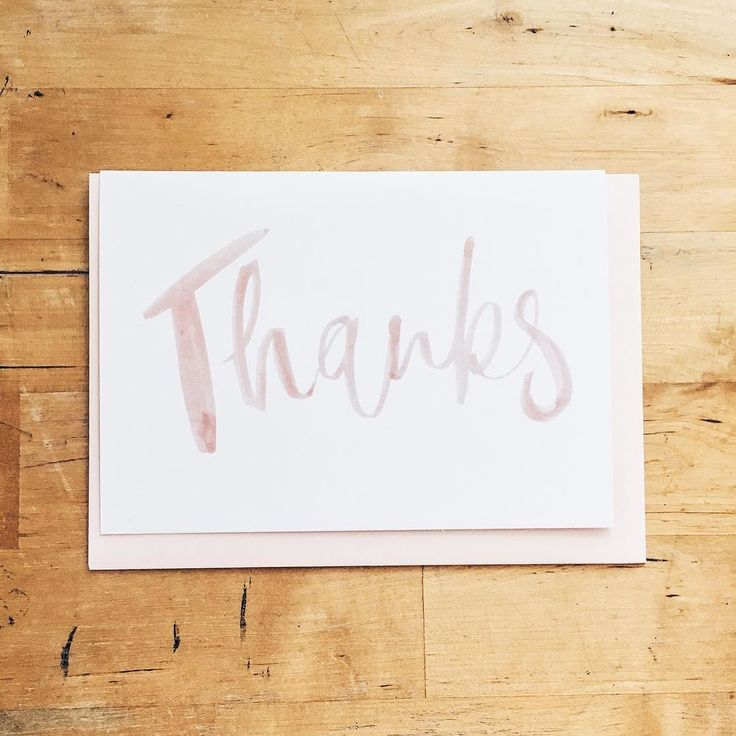 #kgostationery: Nothing quite says thank you like a pretty pink hand lettered card
