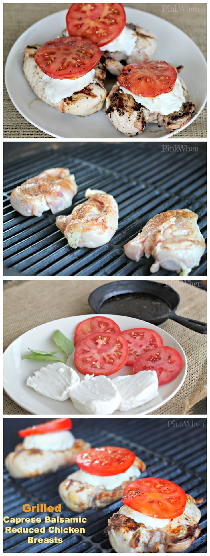 Delicious and AMAZING Grilled Caprese Balsamic Chicken Breasts
