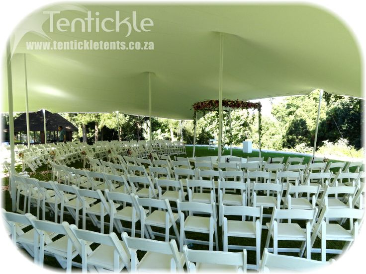 Beautiful large white wedding tents are available for purchase and rental from us.