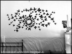 Spectacular lebenskunst artdevivre DIY Wanddeko Schmetterlinge