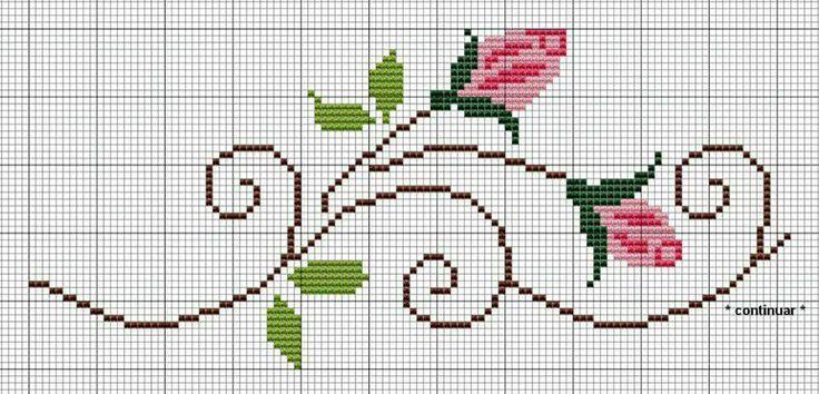 #crossstitch #kanaviçe #pembe #güller #pink #roses