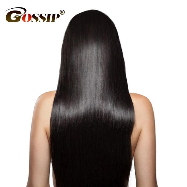 """Gossip Silky Straight Brazilian Hair Weave Bundles Natural Color 8-24""""Remy Hair Bundles 100% Human Hair Extension One Piece Only"""