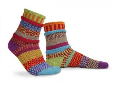 Cosmos Solmate Mismatched Knitted Socks from www.indigobluetrading.com
