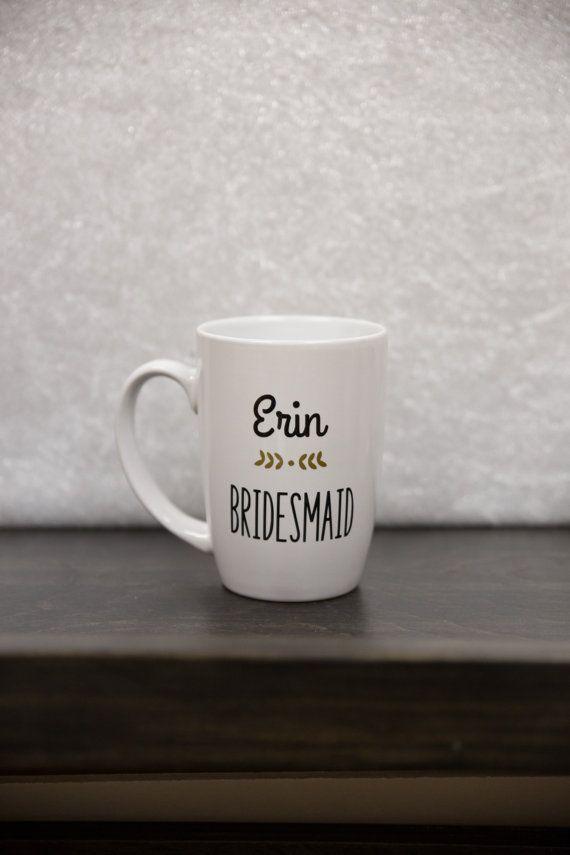 Bridesmaid gift Coffee mug. Personalized by WaterfallDesigns