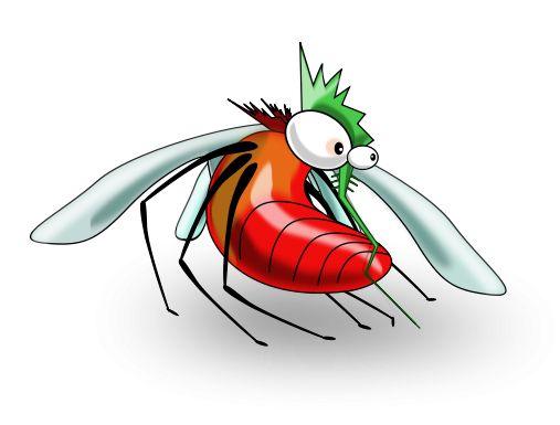 Free Funny Cartoon Mosquito Clip Art