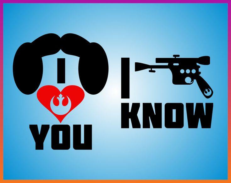 Download I love you I Know svg Disney Star wars svg Master Han Solo ...