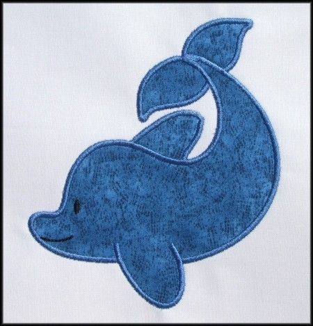 Dolphin Applique designs 2 sizes by DBembroideryDesigns on Etsy, $4.99