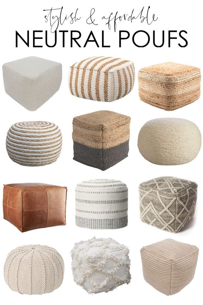 Stylish Affordable Neutral Pouf Ideas Living Room Pouf