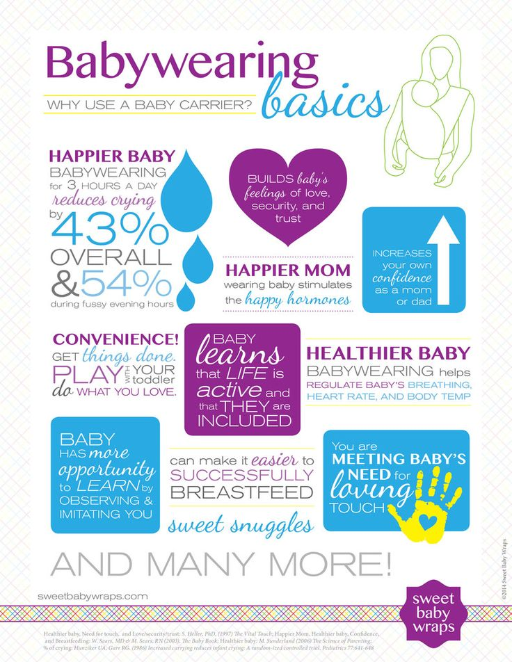 Why Wear Your Baby? - So many powerful reasons!  Healthier and happier babies and mamas! www.SweetBabyWraps.com