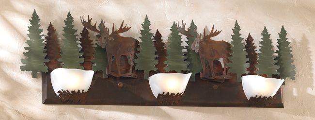 Halogen Moose Vanity Light | Black Forest Decor