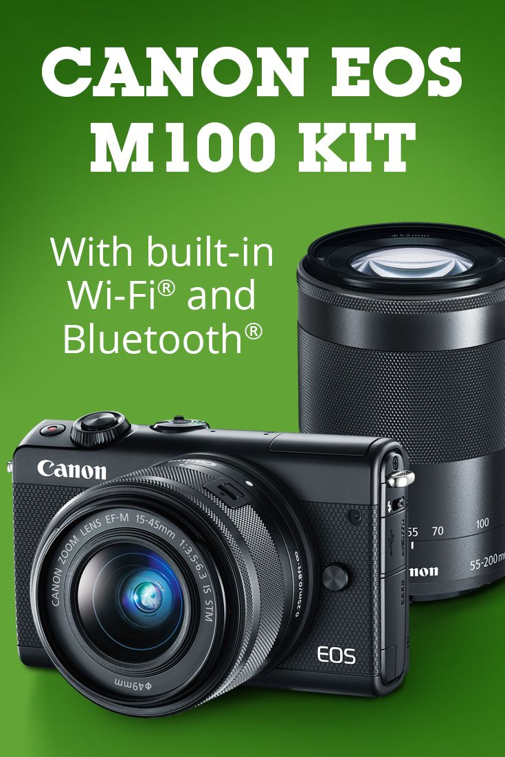 Canon Eos M100 Two Lens Kit Photo Opps Pinterest 80d Wi Fi Dslr Camera With 18 200mm 242 Megapixel Mirrorless 15 45mm And 55 Is Zoom Lenses Bluetooth