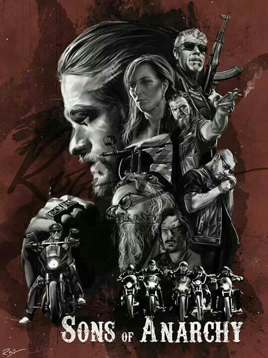 "Sons of anarchy artwork poster superior satin canvas huge size 20"" x 30"""
