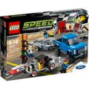 Lego Speed Champions: Ford F-150 Raptor and Ford Put this classic race car on the mighty Ford F-150 Raptor™s trailer and drive to the race. Open up the garage to work on the car. Change the engines and then it™s time to race for glory. Pass the cheq http://www.MightGet.com/january-2017-11/lego-speed-champions-ford-f-150-raptor-and-ford.asp