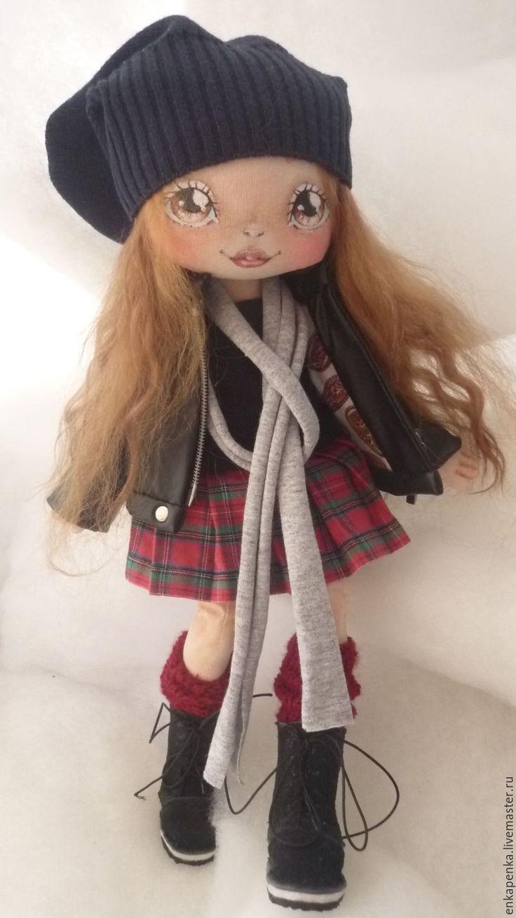 Купить Кукла Лэя - черный, косуха, подросток, подарок, кукла ручной работы, авторская работа