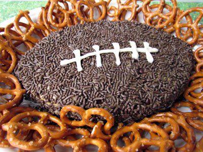 Football Peanut Butter Dessert Dip