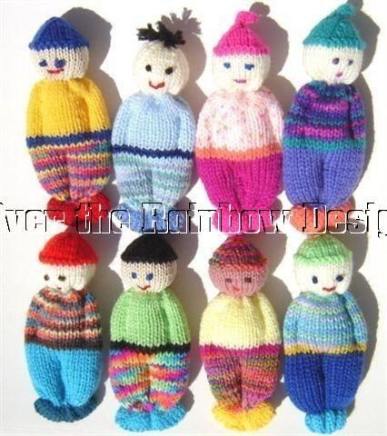 Easy Knitting Patterns For Dolls : Comfort Doll Knitting Pattern Easy to Make 5 Inch Knitted Pocket Doll Patte...