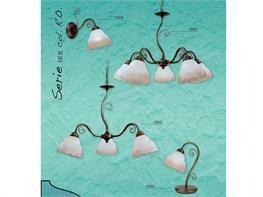 Lampadari in ferro battuto collezione Lux155