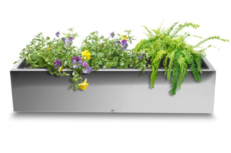 Trough Mirrored Stainless Steel Planter - 75cm x 30cm