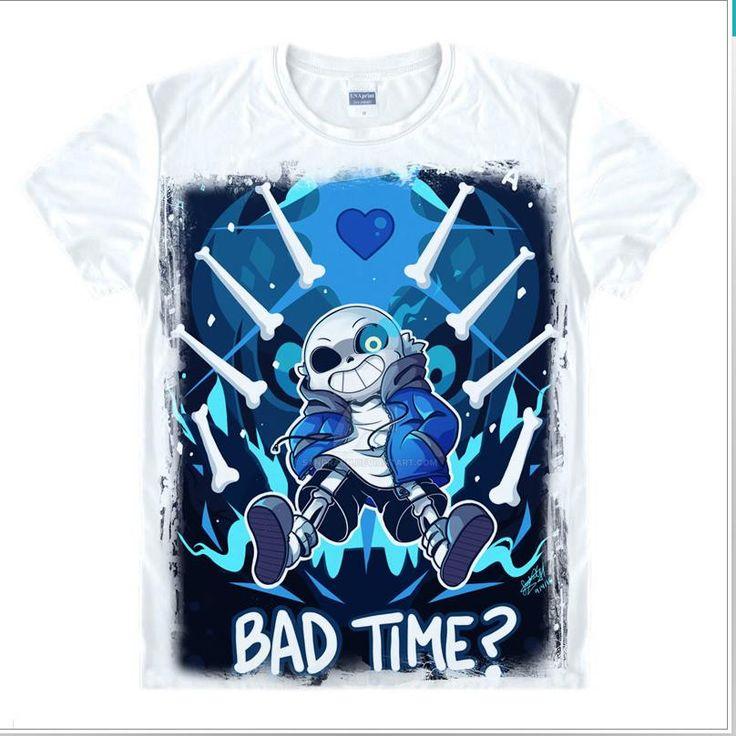 Undertale Papyrus and Sans posing Evil Villains Skull Tee T-Shirt Unisex Adult