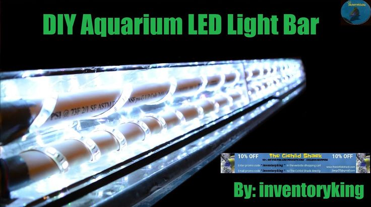 HOW TO: DIY Aquarium LED Light Bar   Inexpensive   Fully Customizable   ...